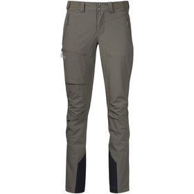 Bergans Breheimen Pantalones Softshell Mujer, green mud/aluminium